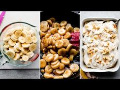 Caramelized banana pudding is a fun variation of the Southern classic. Layer with vanilla wafers and top with extra fluffy cinnamon spiced whipped cream. Homemade Vanilla Pudding, Butterscotch Pudding, Pudding Desserts, Dessert Recipes, Banana Scones, Southern Banana Pudding, Southern Desserts, Caramelized Bananas, Banana Dessert