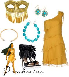 Pocahontas Inspired Masquerade Outfit