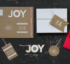 holiday tag set // simplesong