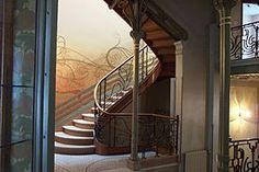 タッセル邸の内部装飾と階段