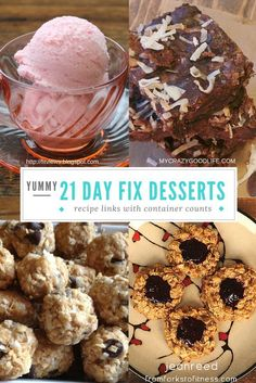 These 21 Day Fix dessert recipes are a great treat at the end of the day. You don't have to give up dessert just because you're eating according to the 21 Day Fix.