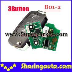 Free shipping keydiy B01-2 3 Button vw Style Remote For KD100(KD200) Machine 5pcs/lot