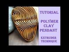 DIY|Embossed pattern from polymer clay Part 2 | PENDANT - YouTube