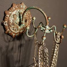 Jewelry Wall Hook - Blue - Rodworks- so cool!