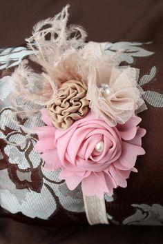 Neutro bebé Headband.Pink Headband.Baby chica-recién nacido Rosa diadema diadema-foto Prop