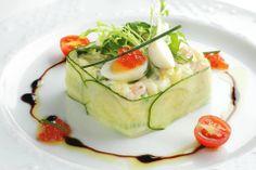 Дом-ресторан Бордо рекомендует: Оливье с коктейльными креветками!