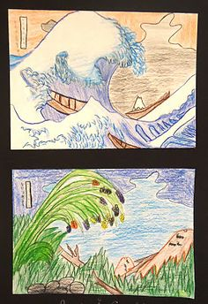 "Remixing ""The Great Wave off Kanagawa"" great middle school lesson! (thanks ms. amy)"