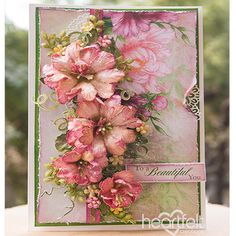 Flawless Beauty - created w/ the Sweet Peony Collection from Heartfelt Creations - #HeartfeltCreations #papercraft #crafting #scrapbooking #cardmaking #card #peony #anyoccasion #thinkingofyou