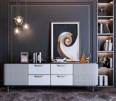 Cabinet Furniture, Furniture Makeover, Console Cabinet, Low Cabinet, Luxury Furniture, Furniture Design, Furniture Ideas, Vogue Living, Wall Shelves Design