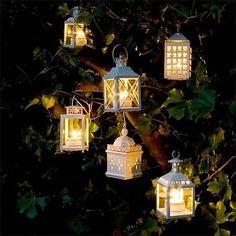 decoração com velas suspensas - Pesquisa Google
