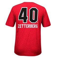 Men's Reebok Detroit Red Wings Henrik Zetterberg Rush Tee, Size: Medium