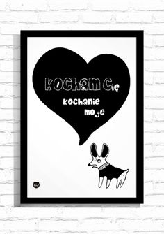 "Grafika ""Kocham Cię""/ Graphic ""I love You"""