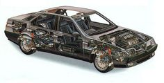 Saab Cutaway, Alfa 164, Alfa Romeo, Cars Motorcycles, Cool Cars, Classic Cars, Automobile, Bike, Good Things
