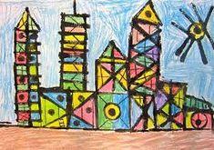 First grade architecture art lessons: elementary 1 Classroom Art Projects, Art Classroom, First Grade Art, Architectural Prints, Art Curriculum, Kindergarten Art, Art Lessons Elementary, Elements Of Art, Art Lesson Plans