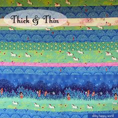 Free Quilt Pattern - Thick & Thin