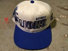 bd01c8facdb Detroit Lions Vtg logo sports NFL Snapback Barry Saunder hat new 90s vtg  NFL Hat Tisa