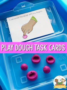 Printable Play Dough Task Cards for your preschool, pre-k, or kindergarten classroom. Increase engagement and time spent on-task with these done-for-you cards. #preschool