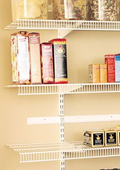 Are you running out of room? TightMesh™ Shelf Kits offer a simple way to add storage when and where you need it most! Made with twice as much wire as other ventilated shelving, this shelving system is strong enough to handle heavy-duty storage. Perfect for your pantry, a linen closet or your kid's room!