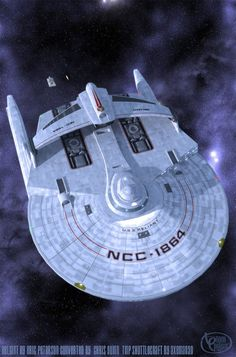 'crew transfers complete,the Enterprise-F leaves the solar system,bound for the very edge of known space. 'after two days at high Warp,a distress signal from near the old Romulan Neutral Zone requi. Star Trek Rpg, Star Wars, Star Trek Ships, Starfleet Ships, Gas Giant, Ship Of The Line, Space Battles, Star Trek Starships, Sci Fi Ships