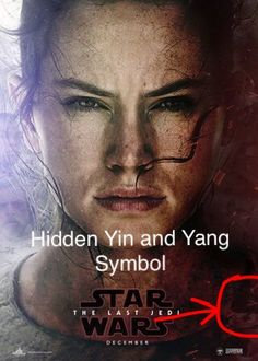 Hidden Yin and Yang symbol in The Last Jedi Poster. Ben and Rey. #thelastjedi #spacebear EpisodeVIII
