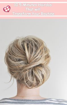 10 5-Minute Hairdos That Will Transform Your Morning Routine---Learn more popular hairstyles with #Besthairbuy