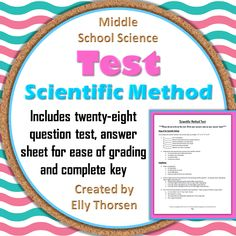 Great test to assess your middle school students' understanding of the most important parts of the scientific method Earth Science, Life Science, Science Lessons, Human Body Organ System, Scientific Method Worksheet, Teaching Chemistry, Science Resources, Middle School Science, Physical Science