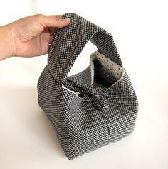 Japan bento bag .Japan cotton fabric.Handmade lunch by marukopum