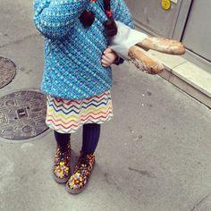 @janettesvn Instagram photos   #SundayMorning #baguette #kidno2 in her @shoppetitpan jacket and @drmartensoffical