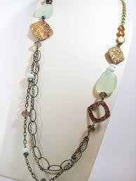 Resultado de imagen para blue and bronze necklace