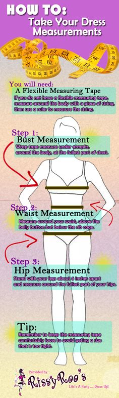 How to take your dress measurements RissyRoos.com This will help so much lol #rissyroosprom