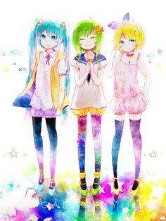 Miku, Gumi and Rin