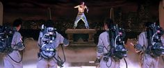 Ghostbusters vs. Tupac? I bet he'd release six albums from the time in the trap to the containment unit.