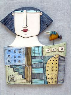 Your place to buy and sell all things handmade Ceramic Mask, Ceramic Clay, Ceramic Pottery, Clay Wall Art, Clay Art, Atelier D Art, Ceramic Figures, Ceramic Animals, Sculpture Clay