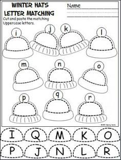 and lowercase letters cut and paste activity. Great activity for Pre-K ...
