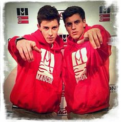 Shawn Mendes and Jack Gilinsky #twinning #magcon #viners ❤