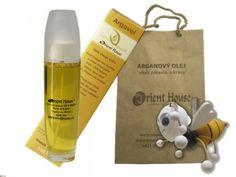 Arganový olej kozmetický BIO 100ml + drevená hračka včielka Drinks, House, Beauty, Drinking, Beverages, Home, Drink, Beauty Illustration, Homes