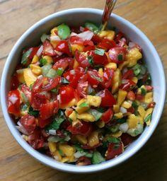 Recipe for Mango-Tomatillo Salsa for Summer