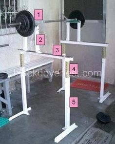 DIY Adjustable Squat Racks