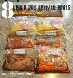Crock pot freezer meals - ready in two hours! #mommysavers (Not all of these are paleo, but they could easily be made paleo with minor adjustments.) Looks like a great way to prepare for the week!