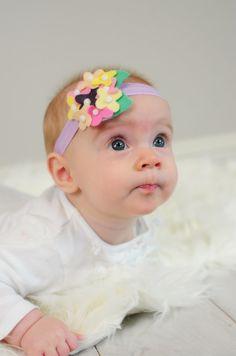 Felt Hydrangea Headband- Yellow, Violet, Pink, Hair Clip, Easter on Etsy, $10.00