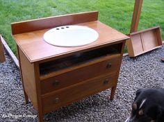 Dresser to Vanity-Set in Sink - An Oregon Cottage