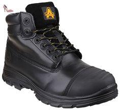 Amblers Safety Mens Black Non-Leather Lace Ankle Boot Scuff Cap Multi Size FS151