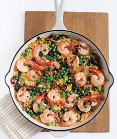 // Shrimp and Sausage With Saffron Rice