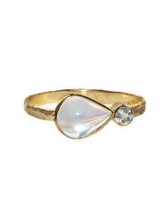 Classique Collection - East West Moonstone & Diamond Ring