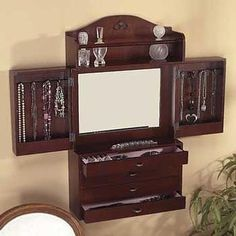 Wall Jewelry Armoire
