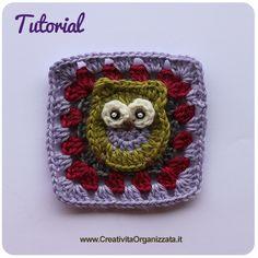 Mattonella con Civetta Istruzioni in Italiano - #diy #crochet