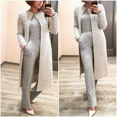 Learn How To Knit Jacket Dusty Rose For Women - Best Knitting Crochet Dress Outfits, Crochet Clothes, Crochet Coat, Crochet Cardigan, Crochet Ruffle, Knitted Coat, Crochet Bikini, Coat Patterns, Clothing Patterns