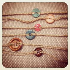 DIY button bracelets