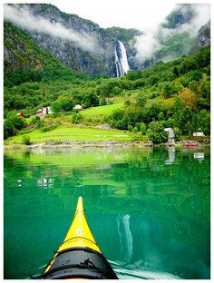 Lustrafjorden, rv55 Jotunheimen #Norway Kayak Camping, Canoe And Kayak, Beautiful Castles, Beautiful Places, Jotunheimen National Park, Places To Travel, Places To Go, Best Beaches In Europe, Norway Travel