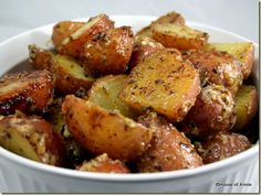 Roasted Aioli Potatoes -- absolutely divine